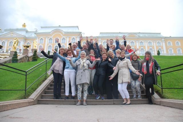 Peterhof - kor i trapp - crazy